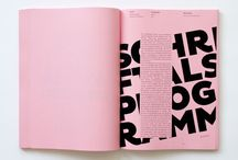 pink typography