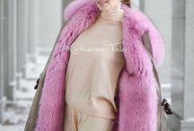 Real fur parka coat