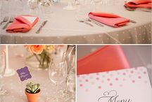 Wedding Table Settings / Different ways to set up a wedding table at a reception