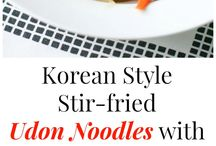 Stir fry udon noodles with veg's &chicken