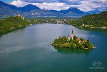 Свадьба в замке Блед / Самый старинный замок в Словении - Блед. Это удивительное место для свадьбы - романтично, уединенно, красиво и по-рыцарски )))