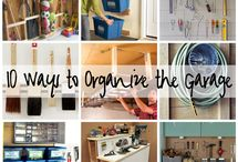 Garage organization / by Shannon Woodmansee