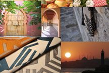 """Planche Tendance """"Arabesque"""" / Bouchara Paris vous donne rendez-vous. Là où motifs en architecture orientale et art graphique contemporain se lient pour Mille-et Une Nuits."""