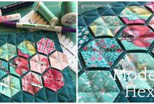Hexagons, Atarashii... .über Schablonen nähen
