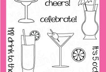 Cheers / Clear stamp from pinkandmain.com