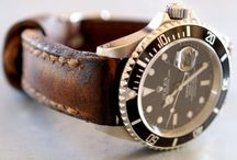 Watches gold and black