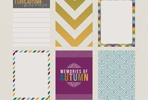 PL journaling cards / Project life journaling cards