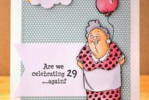 Hjemmelavede fødselsdagskort