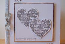 Cards Wedding / Anniversary / Wedding, Anniversary and Valentine's Day Card ideas