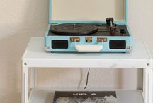 Record players/storage / by Kerry Tanker