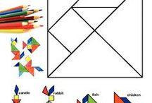 tangram fracții