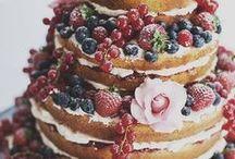 Naked Torte / Hochzeitstorte, Naked Coke, Vintage, Blumen, Torte