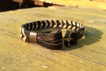 Our handmade leather bracelets and jewelry
