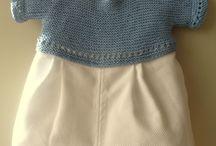 Costura, ganchillo, punto, de bebes