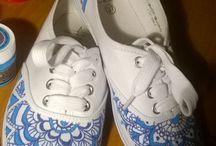 Shoes / #creative #shoes #dye #home made #handmade