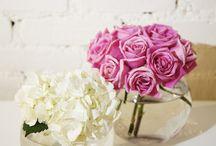 Floral arrangements for fish bowl styled vases