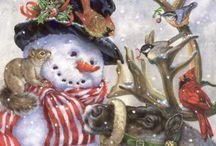 Noël elan écureuils