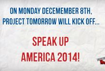 """Speak Up America 2014 / """"Speak Up America 2014"""" is a weeklong event to celebrate Speak Up participants. During this event there will be a daily release of Speak Up 2014 preliminary data snapshots, recognition of top participants and best of all opportunities to win free conference registrations, a BrainPOP certificate and multiple chances to receive a classroom or school grant up to $500! Learn more about Speak Up America 2014 at bit.ly/SUamerica2014."""