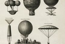 Hot Air Balloons / Drawings, Illustrations, Photos