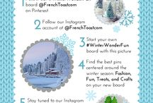 #WinterWonderFun / Join our #WinterWonderFun contest and show us what you love about the winter season! Pin your favorite winter DIY crafts, fashion items, treats and most of all, FUN. Start your own board now!  / by French Toast