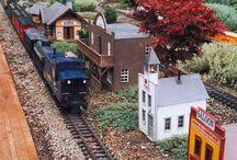model railroad, vláčky, modely vlaků, aut, krajin atd.