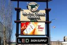 LED Message Boards for Schools / We've been helping out schools with LED message boards and LED billboards. Both for use in the outdoors or indoors. Great way to get the message out to all students, either within the school, or while driving by...