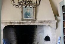 Fireplaces / by Nat @ ShabbyD
