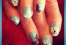 Pet Nail Art / For women who love to express their love for dogs or cats on their nails.