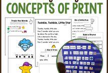 Language Arts-Concepts of Print