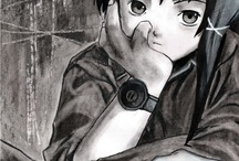 Lain Fan-art / Fan art created using charcoal, pastels and acrylic paint on 42 x 29,7 cm (A3) paper format.