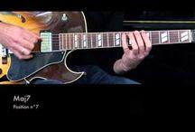 Jazz Guitar Lessons - Guitar Positions - Arpeggios in 5 Frets Boxes / Jazz Guitar Improvisation - Jazz Guitar Lesson - Jazz Guitar Technique - Jazz Guitar Lick - Arpeggios