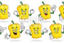 Vegetable Mascot, vegetable character