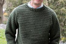 Ανδρικό πουλόβερ με βελονακι