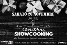 Xmas Showcooking / Evento di cucina nel nostro store