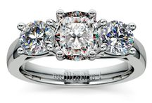 Cushion Diamond Rings Collection / Call Us Today: 866.737.0754 / by Brilliance.com