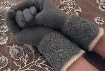 Gloves, mittens, socks, wristwarmers, hats. Knit and crochet. / handschoenen, sokken, petten