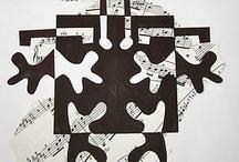 elementary art - Matisse, cut paper, Notan,
