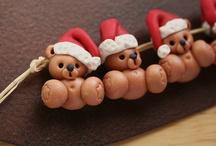 Karácsonyi gyurma ékszerek
