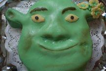 postup na dort Šrek / Cake Shrek