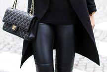 pantalon negro cuero