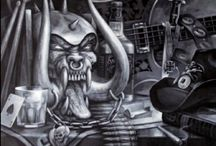 Snaggletooth / The brilliant #Motörhead creature captured in various illustrations. Lemmy R.I.P.♠