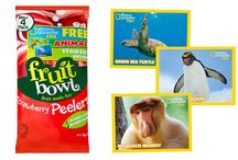 Fruit Bowl & NG Kids! / Check out our exciting new partnership with Fruit Bowl! Collect National Geographic Kids stickers in packs of Fruit Bowl snacks and stick them to the amazing double-sided posters inside issues of NG Kids!
