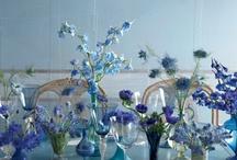 Blue flowers, blue wedding