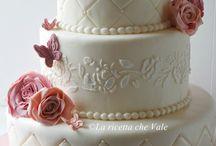 torte decorate con rose