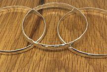 Handmade Silver Bangles / Handmade Solid Sterling silver bangles