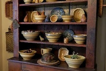 Vintage Kitchen  / Yellowware, Cookie Cutters, Rolling Pins, Aprons. I love them all! / by Christa Phelps