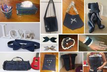 Denim Challenge / Denim repurposing craft projects to raise money for charity.   Upcycled on denim skits, denim jeans and more into tote bags, baskets, aprons, bracelets, headbands and much more.