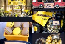 Truck Lolly Candy Buffet / Truck theme lolly / candy buffet from Sugarlicious Parties. Colours of yellow, brown & black were used. Tonka dump trucks & wooden trucks were also used to display the candy / desserts. www.sugarlicious.com.au
