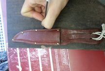 leather knife sheath / customer asked me to make him a knife sheath so this is as step by step as I remembered to take photos lol