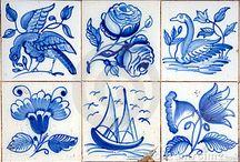 ceramika - majolika - niebieski